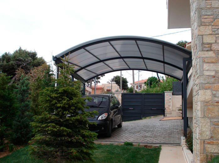 Cobertura de policarbonato para garagem