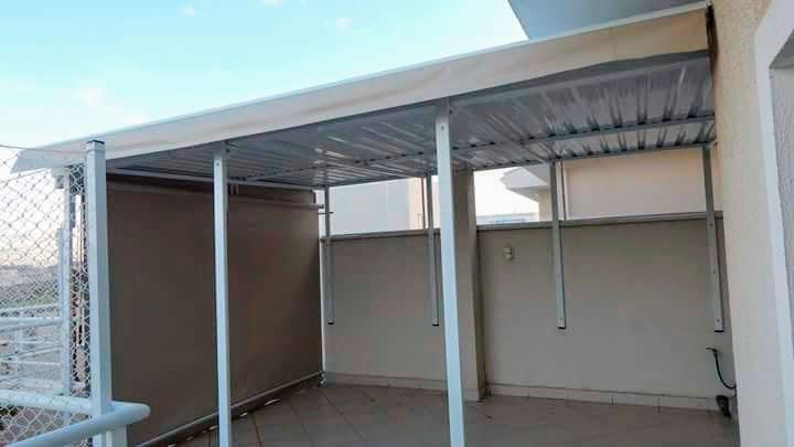 Cobertura de telha sanduiche express toldos for Tipos de toldos para balcones
