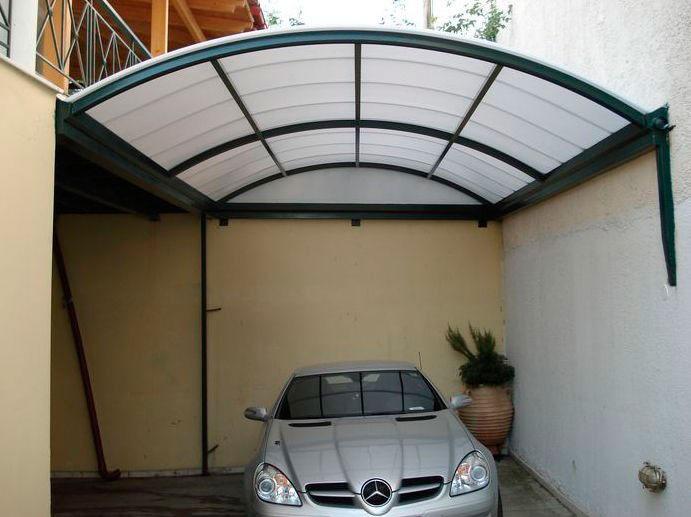 Toldos de policarbonato para garagem express toldos for Modelos techos para garage